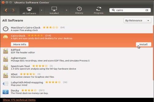 application on dock of mac