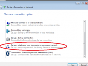 Setting Up a Wireless Computer-to-Computer Network on Windows 7