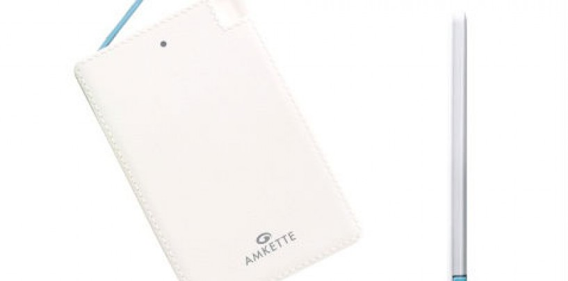 Amkette announces Super Slim Emergency Power Bank for your wallet