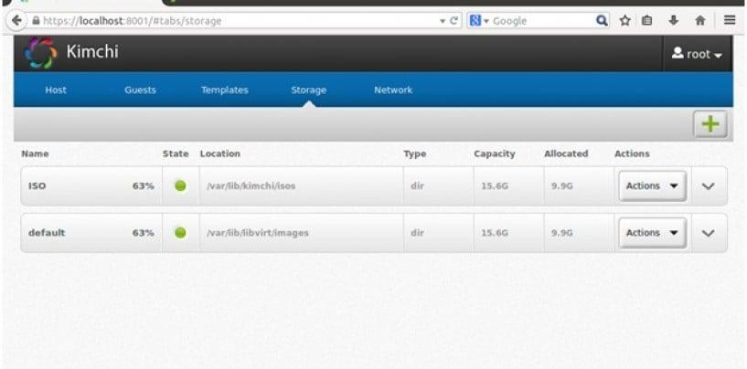 Manage KVM (QEMU) with Kimchi, a Virtual Machine Management Web interface