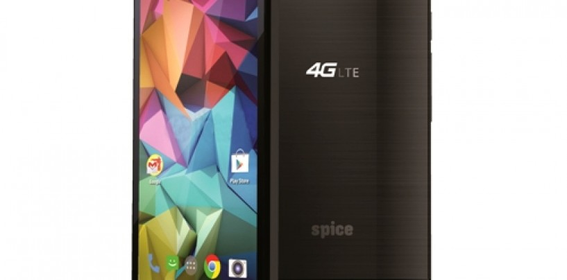Spice Mobiles launches its first 4G LTE smartphone- Stellar 519 at Rs. 8,499