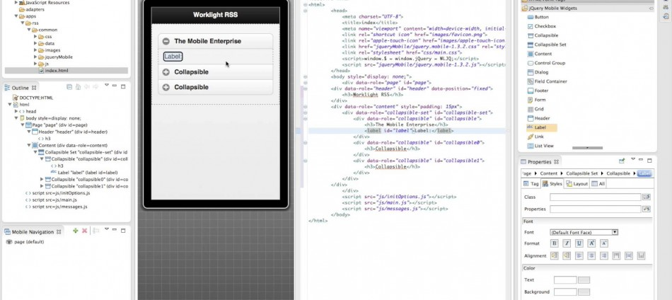 IBM MobileFirst Studio