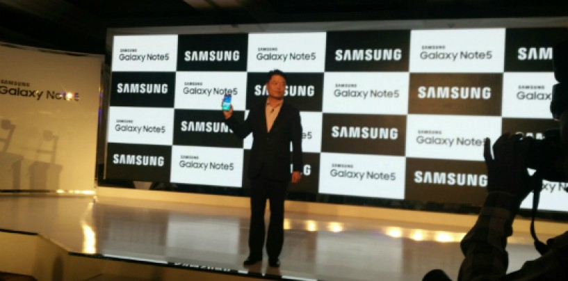 Samsung unveils Samsung Galaxy Note 5 starting from Rs 53,900