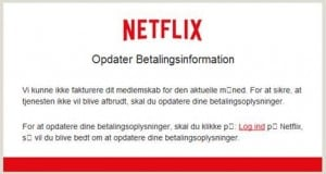 Figure 2. Screenshot of the Netflix spam email