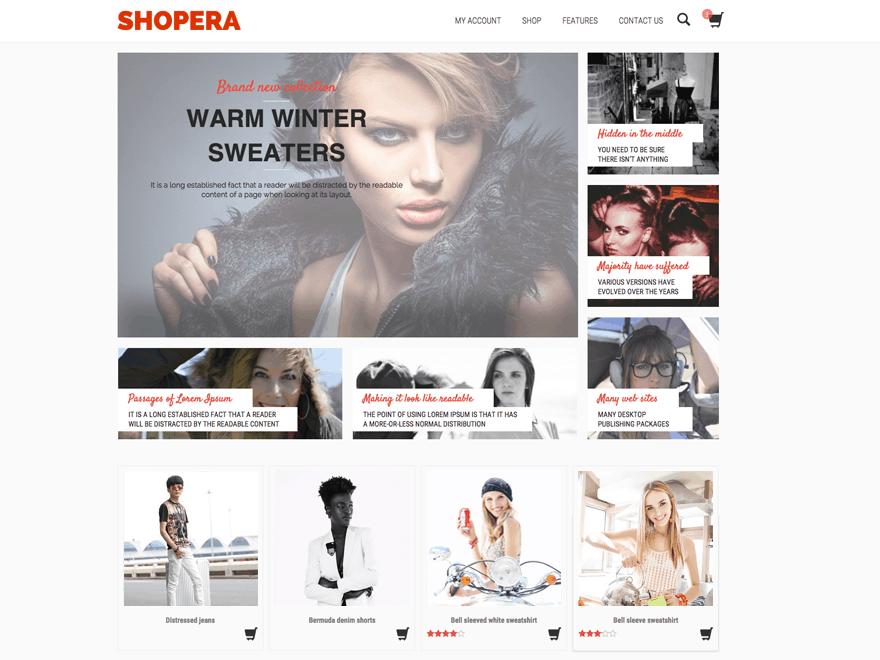 Shopera WordPress Ecommerce Themes