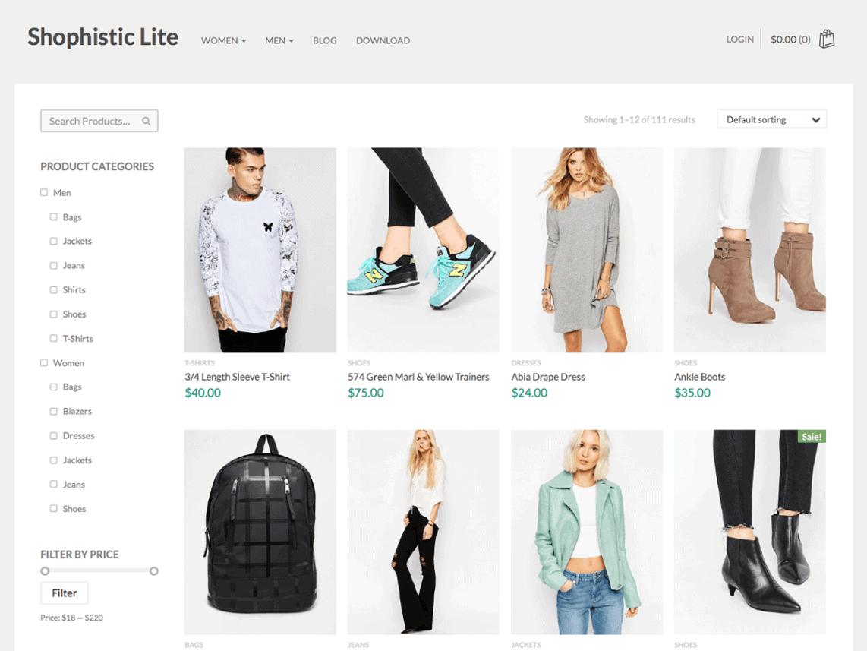 Shophistic Lite WordPress Ecommerce Themes