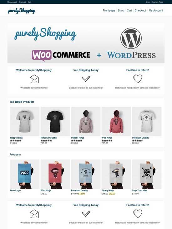 purelyShopping WordPress Ecommerce Themes