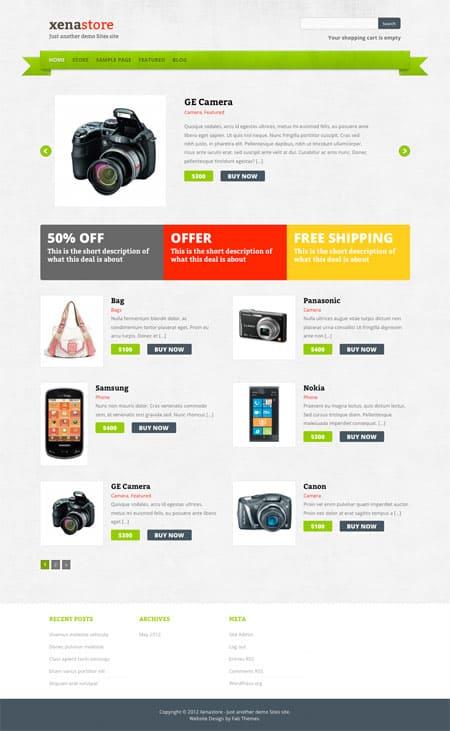 ecommerce wordpress themes free