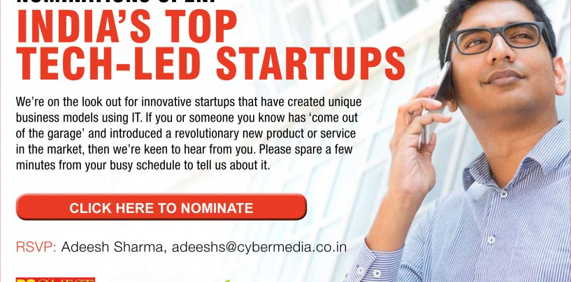 Nominations Open: India's Top Tech-Led Startups