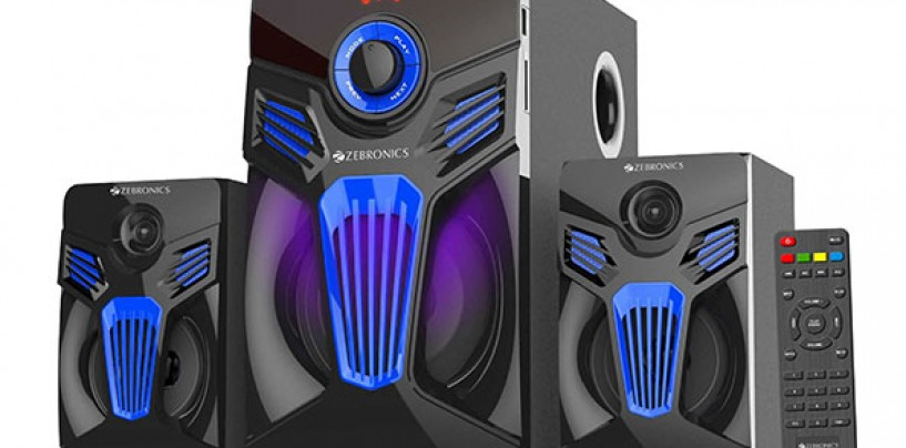 Zebronics announces its latest 2.1 Speaker With Monster Sound And Looks