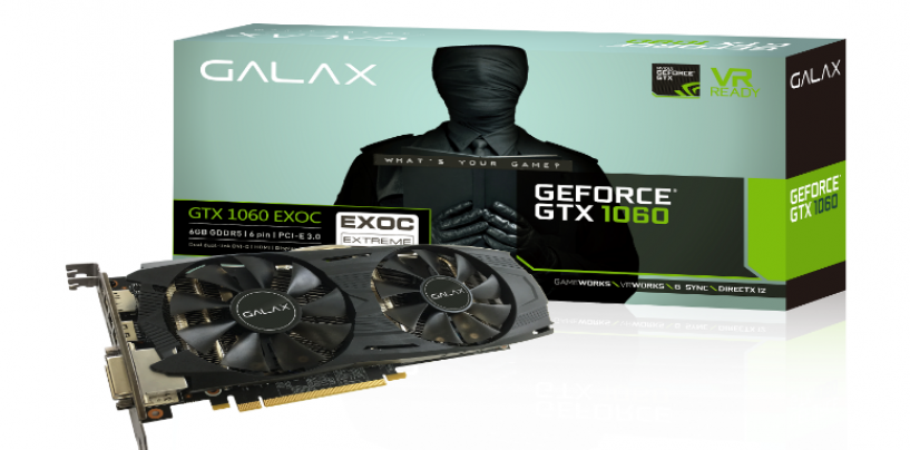 Galax Introduces Next Generation Galax GTX 1060 EXOC Black 6 GB
