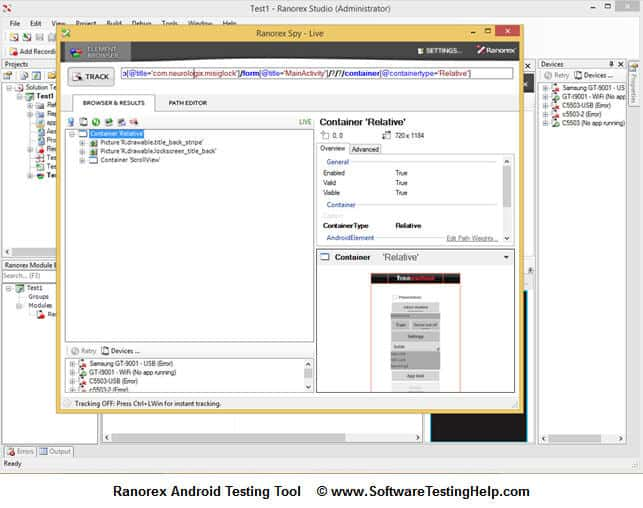 Ranorex-Android-Testing-Tool