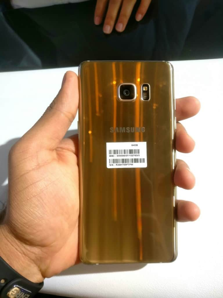 Samsung Galaxy Note7 Back