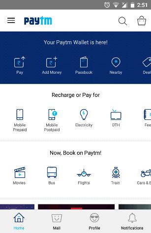 Paytm layout