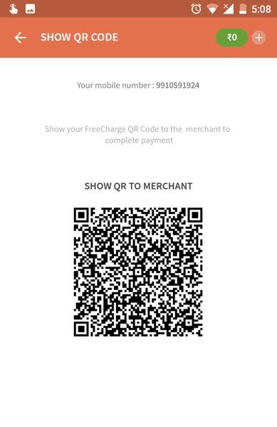 Pay viaFreecharge