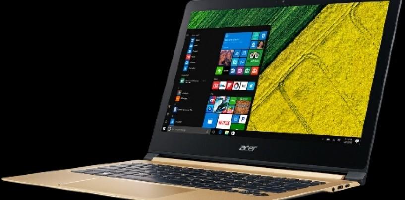 Acer Brings World's Thinnest Laptop: SWIFT 7