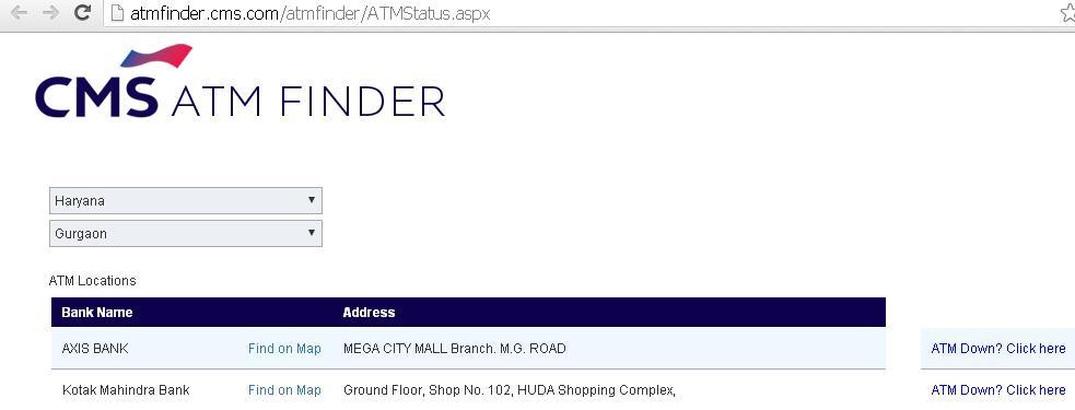 CMS ATM Finder App