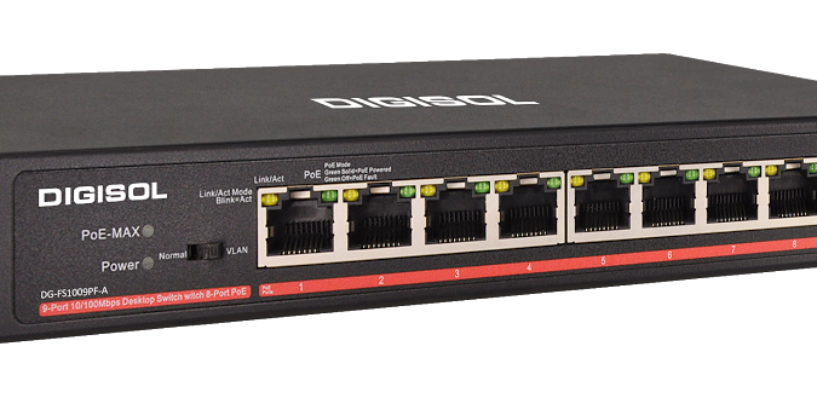 DIGISOL launches 8 PoE Ports Fast Ethernet Unmanaged Switch with 1 Uplink Port