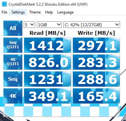 Intel 32GB Optane SSD Memory (MEMPEK1W032GA) Review CrystalDiskMark