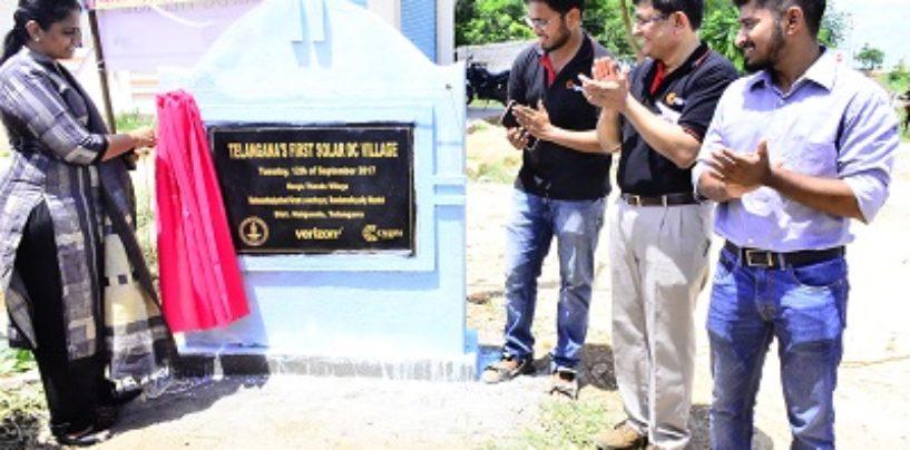 Verizon and IIT Madras take forth solar technology to rural Telangana