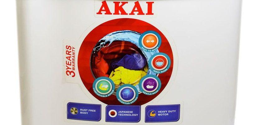 AKAI launches new range of semi-automatic and automatic washing machines