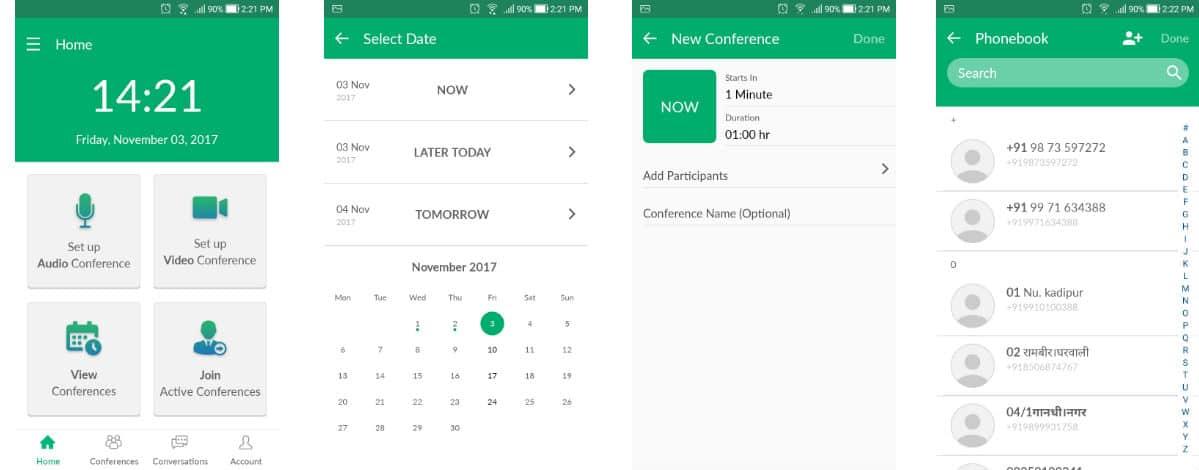 NowConfer App: Adding Participants