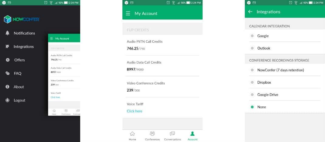 NowConfer App: Account