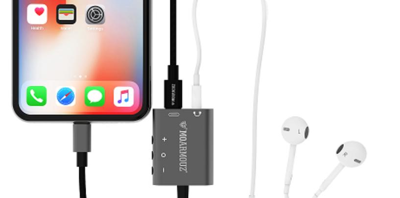 Lightning to 3.5 mm MoArmouz Headphone Jack Charge Adapter