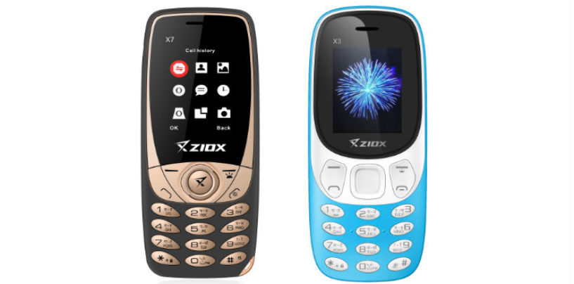 Ziox Mobiles Launches X7 and X3 Feature Phone