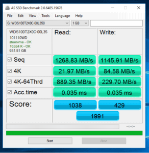 WD Black NVMe SSD Review:Benchmarks AS SSD