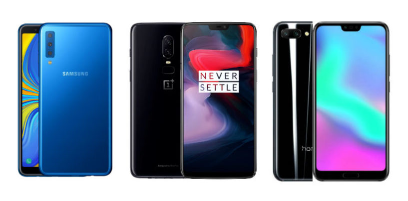 Samsung A7 vs OnePlus 6 vs Honor 10: A Comparison