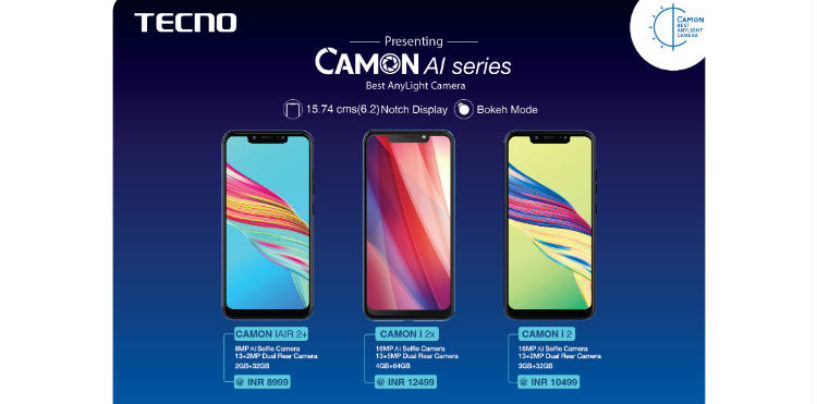 TECNO Introduces AI camera-centric smartphones with notch display