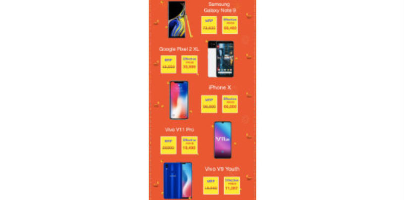 Google Pixel 2, Galaxy Note 9, and iPhone X up for grabs with up to Rs. 16,000 cashback on Paytm Mall's Maha Cashback Sale
