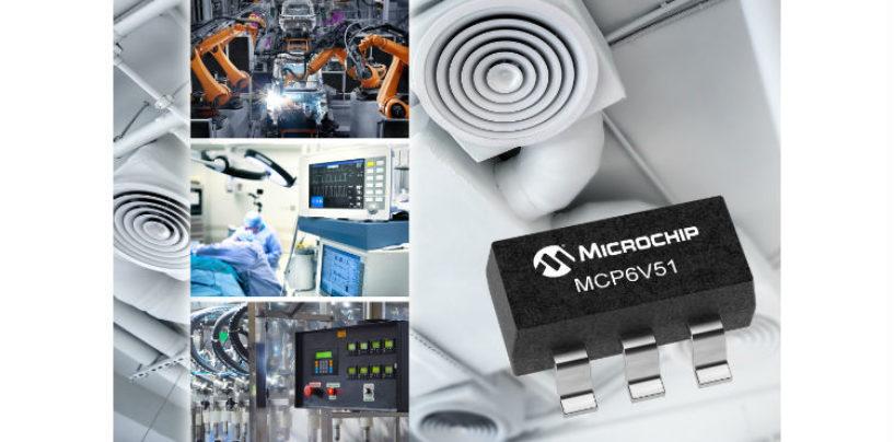 Microchip has announced the MCP6V51 zero-drift operational amplifier