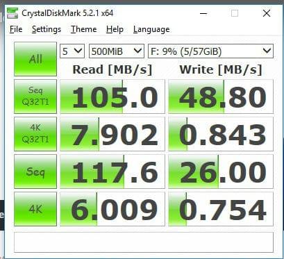 SanDisk Ultra Fit USB 3.1 Flash Drive Review crystaldisk mark