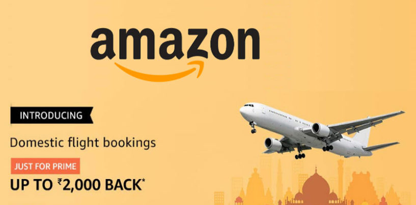 Get upto Rs 2,000 cashback on flight bookings on Amazon