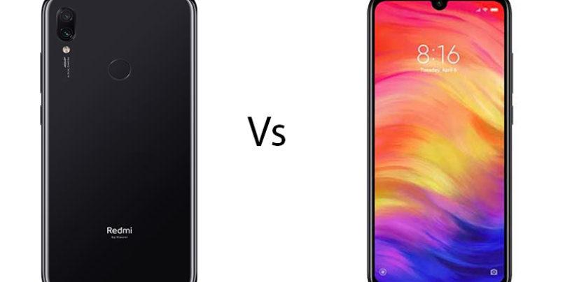 Xiaomi Redmi Note 7S vs Redmi Note 7 Pro