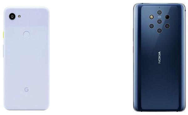 Google Pixel 3a XL vs Nokia 9 PureView: Comparison