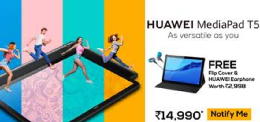 HUAWEI launches Its Latest HUAWEI MediaPad T5 in India