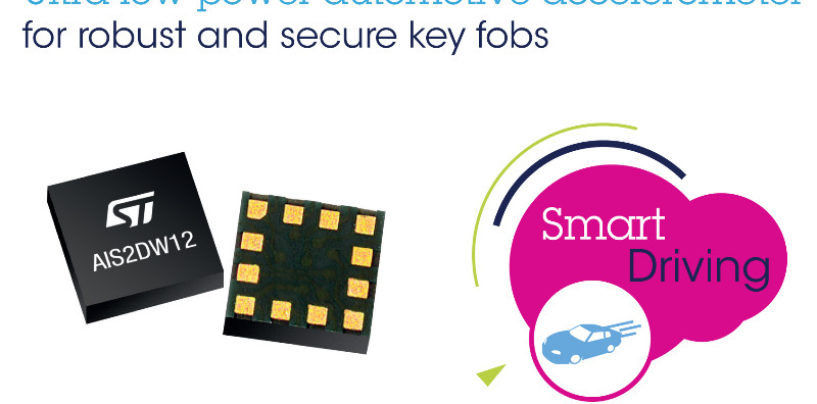Robust, Low-Power Automotive Accelerometer from STMicroelectronics
