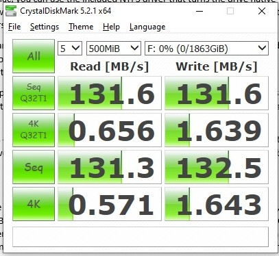 Seagate Backup Plus Slim 2TB Review - Crystaldiskmark