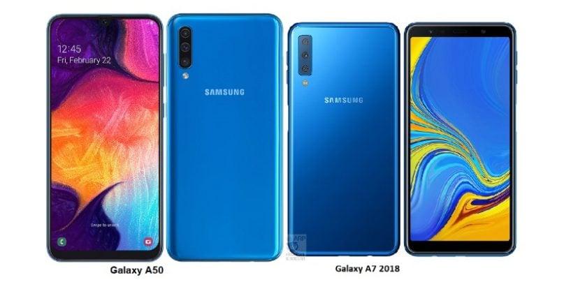 Samsung Galaxy A7 vs Galaxy A50: Comparison