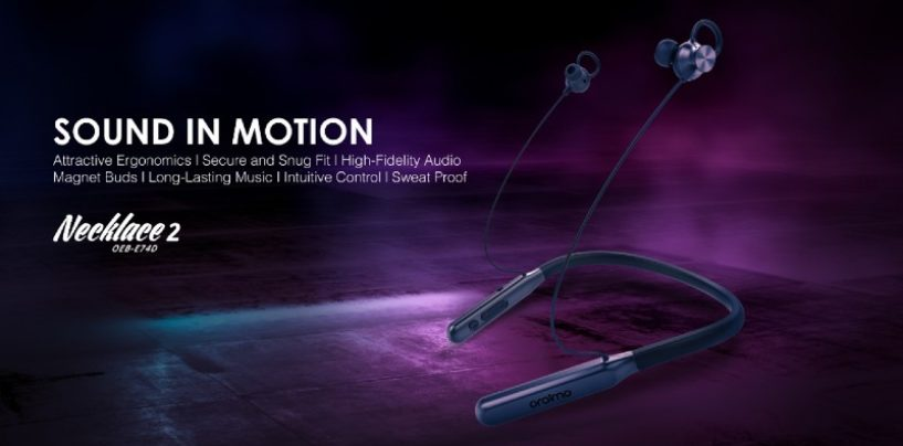 oraimo announce the launch of its new earphones ,Necklace 2- OEB-E74D