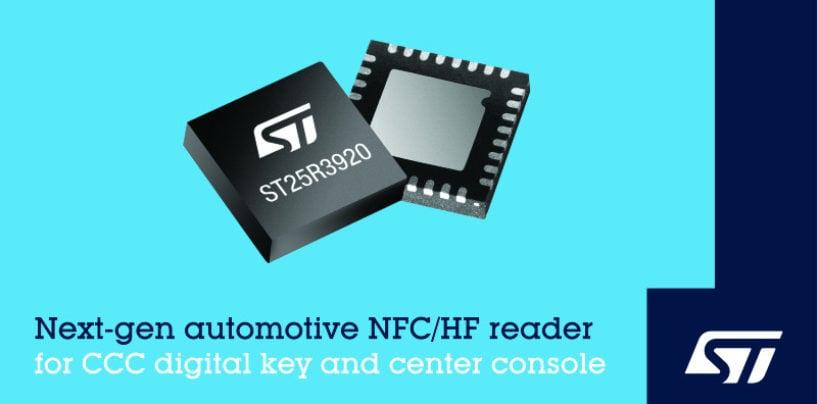 STMicroelectronics Reveals Next-Generation NFC Reader IC for Digital Car Keys
