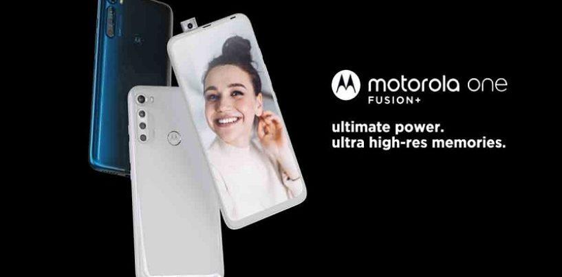 Motorola One Fusion+ Launches in India Today on Flipkart, Takes on Poco X2
