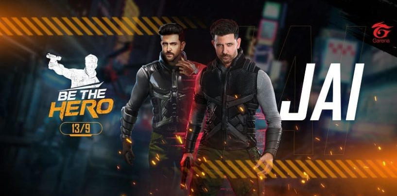 Play as Hrithik Roshan in Free Fire's latest update, Be The Hero