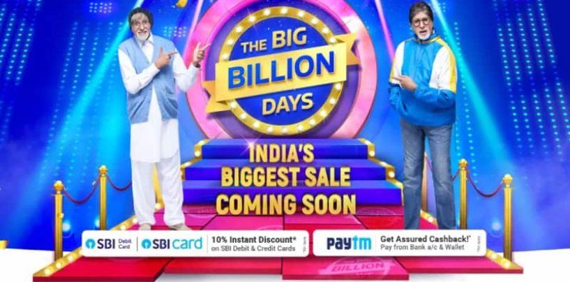 Flipkart's Big Billion Days Are Here Again, Get Massive Discounts