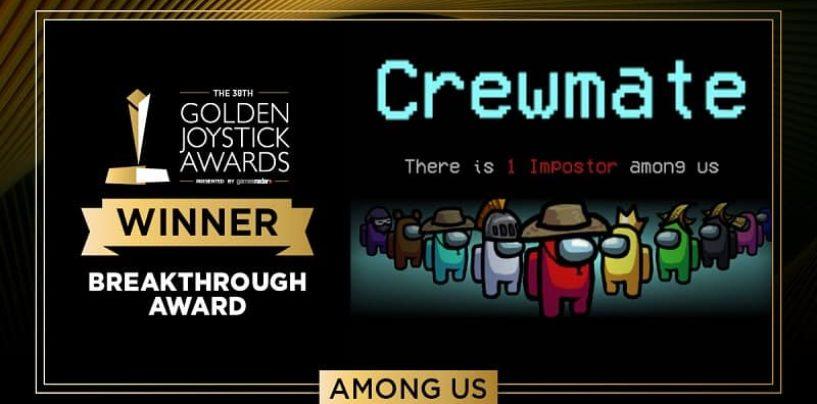 Among Us Wins Golden Joysticks Breakthrough Award, Congratulations