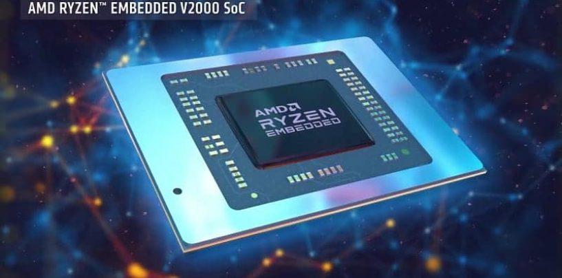 AMD Ryzen Embedded V2000 Processors Arrive into the World