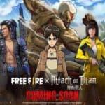 Free Fire Attack on Titan Crossover